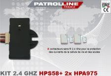 Kit 2 contacteurs sans fils avec récepteur 2.4 Ghz