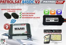 PATROLSAT 845DC V2 - Alarme et Traceur Antivol Anti car jacking par Driver Card