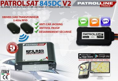 PATROLSAT 845DC - Alarme et Traceur Antivol Anti car jacking par Driver Card