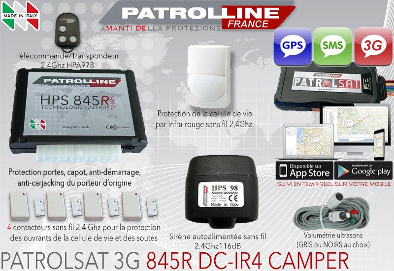 Alarme Satellite pour camping car