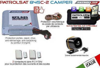 PATROLSAT 845C-2 CAMPER - Alarme et Traceur GPS/GSM pour Camping-Car