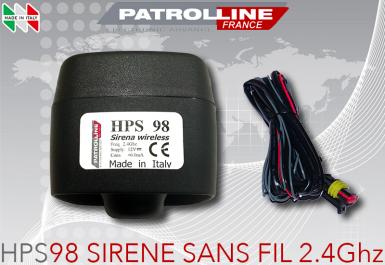 Siréne auto-alimentée SANS FIL 2.4Ghz