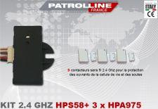 Kit 3 contacteurs sans fils avec récepteur 2.4 Ghz