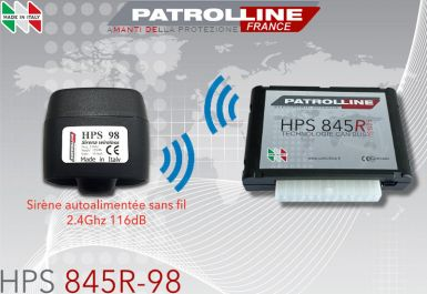 Alarme PATROLLINE HPS845R-98 avec sirène sans fil 2.4Ghz