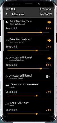 Réglage détecteur Pandora Mini par Bluetooth